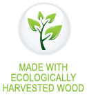 made with Eco friedly wood